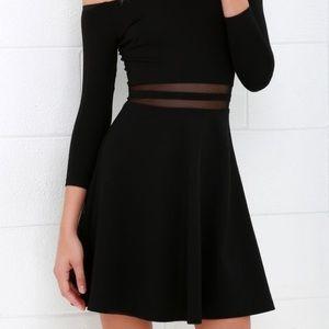 NWOT Lulu's Black Skater Dress